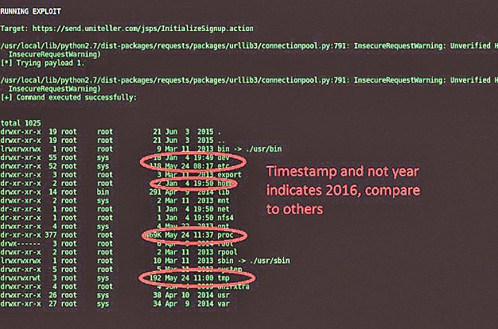 消息人士提供的資料顯示,黑客擁有UniTeller 系統的管理權限。(網頁擷圖)