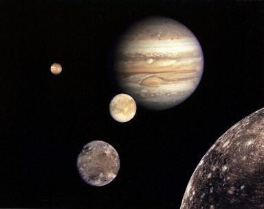 木星及其四大衛星。(法新社)