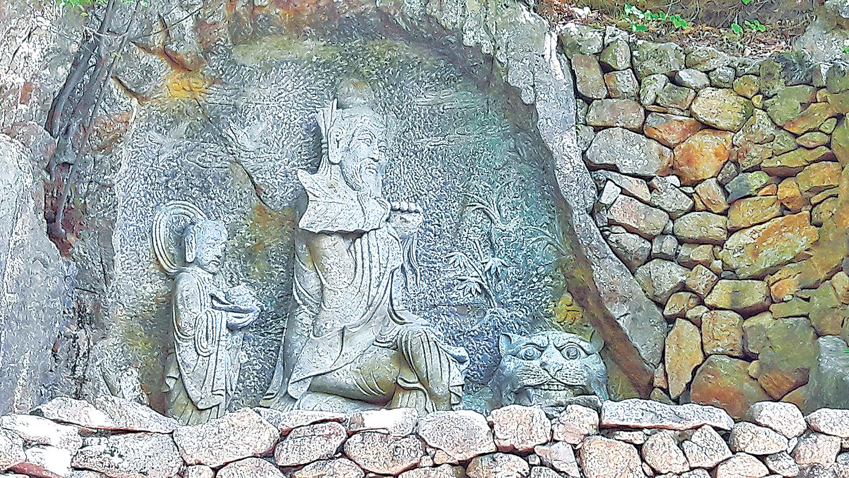 咸陽郡寺廟發現徐福尋蔘圖