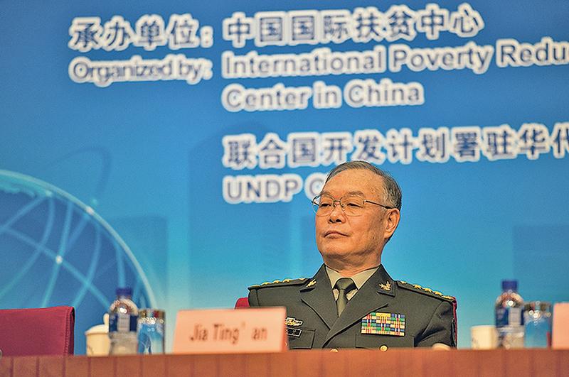江澤民的大秘、現總政治部副主任賈廷安。(大紀元資料室)