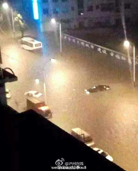 四川多地暴雨,瀘州敘永縣現58年來最大洪水。圖為瀘州暴雨。(網路圖片)