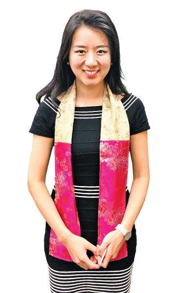 在中學時贏得選美獎學金而上名校的Enplug數字廣告牌軟件公司CEO劉南茜(Nanxi Liu)。(劉菲/大紀元)