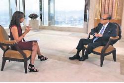 李嘉誠今次是自2012年以來首次接受國際媒體採訪。(彭博截圖)