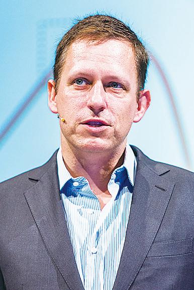 《從0到1》作者、有「矽谷創投教父」之稱的彼得‧蒂爾(Peter Thiel)