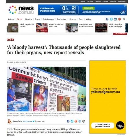 (澳洲新聞網站截圖)