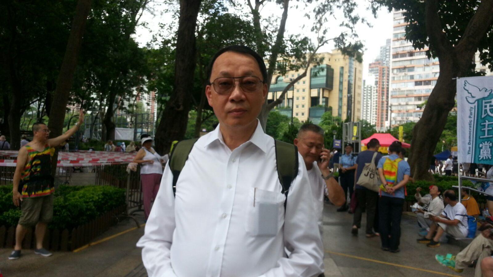 【七一遊行】大律師公會前主席陳景生上街:期待有好議員