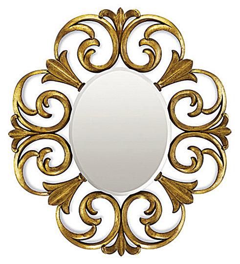 表現形式強烈的手工精雕鏡飾,常讓人聯想高級珠寶。