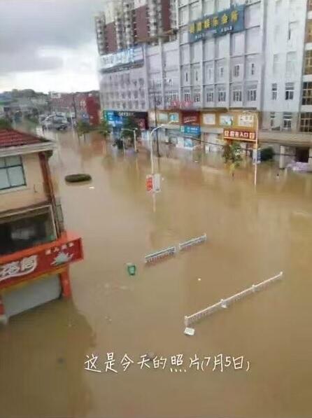 安徽馬鞍山市博望區受災情況。(網絡圖片)