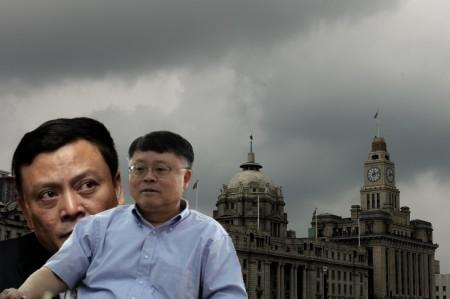 江澤民家族在上海建有龐大的政治經濟利益網絡。圖為江綿恆(前)、江綿康(後)。(大紀元合成圖)