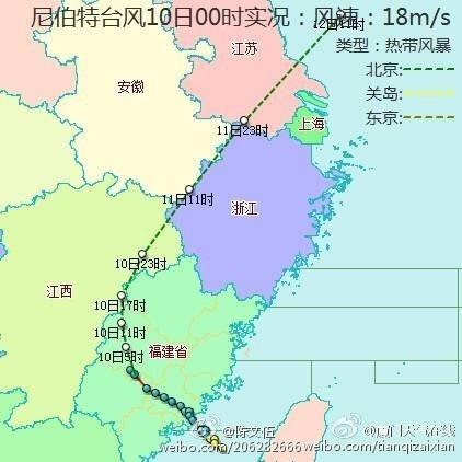 受颱風「尼伯特」影響,福建、江蘇、浙江、上海等地普降大雨,局部出現大暴雨。(網絡圖片)