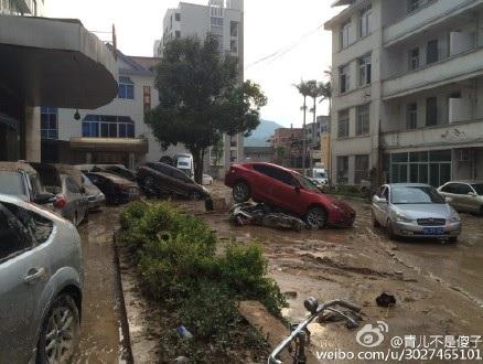 7月9日,超強颱風「尼伯特」登陸福建,閩清縣坂東鎮受災最為嚴重。(網絡圖片)