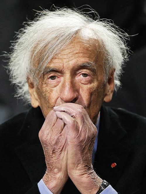 諾貝爾和平獎得主埃利·維瑟爾(Elie Wiesel),攝於2015年。(Getty Images)