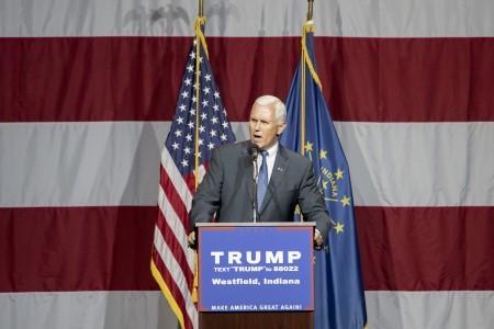 印第安納州州長彭斯(Mike Pence)。(Aaron P. Bernstein/Getty Images)
