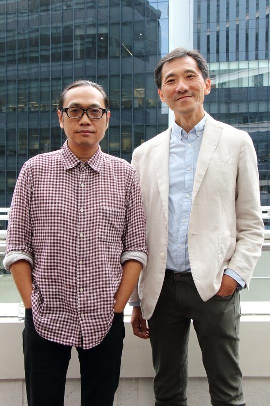 周博賢(左)及姚松炎,則積極考慮參選立法會功能組別選舉。(蔡雯文/大紀元)