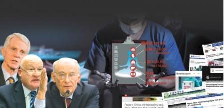 加拿大前亞太國務卿大衛・喬高、加拿大人權律師大衛・麥塔斯和美國資深調查記者伊森・葛特曼聯合發布中共強摘人體器官的最新調查報告。(大紀元合成圖)