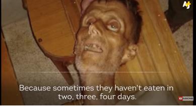 面臨餓死危機的老者