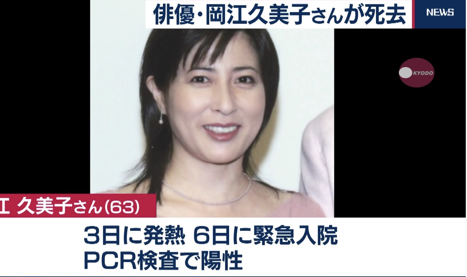岡江 久美子 死去