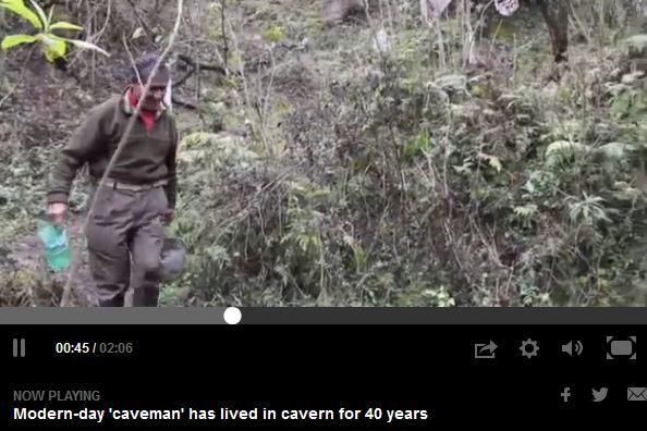 79歲男子山洞生活40年 模樣比同齡人年輕