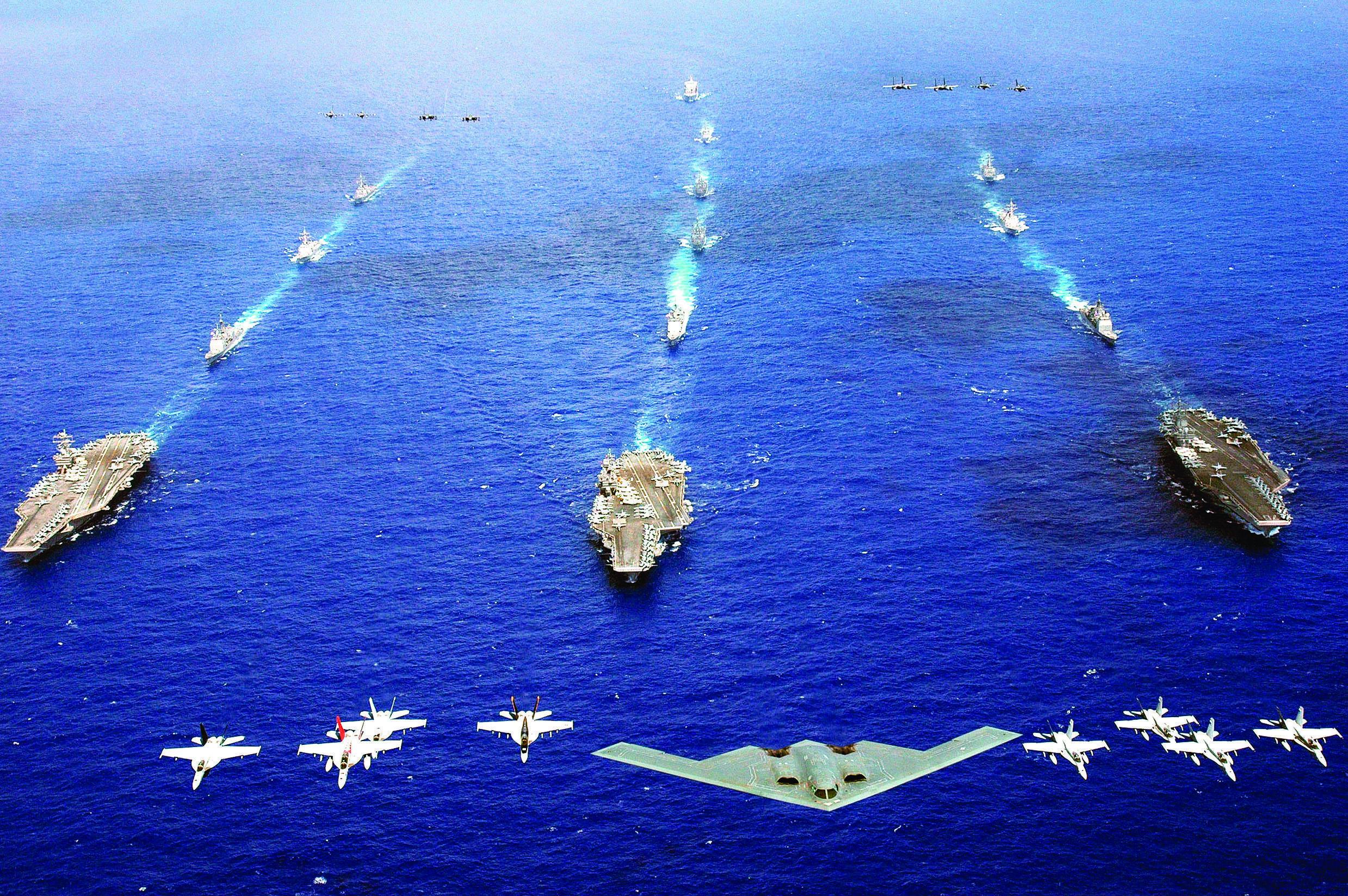 海上軍事基地航母如何自保