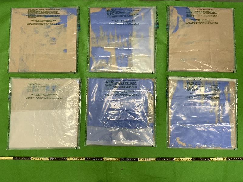 海關檢獲懷疑冰毒及氯胺酮 市值約800萬元