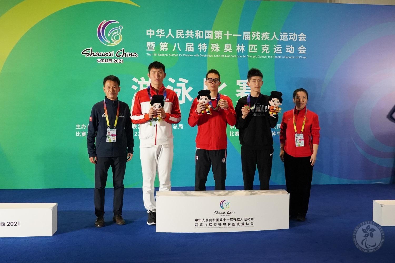全國殘運會 港隊泳將黃漢彥及張淬淇再奪金牌