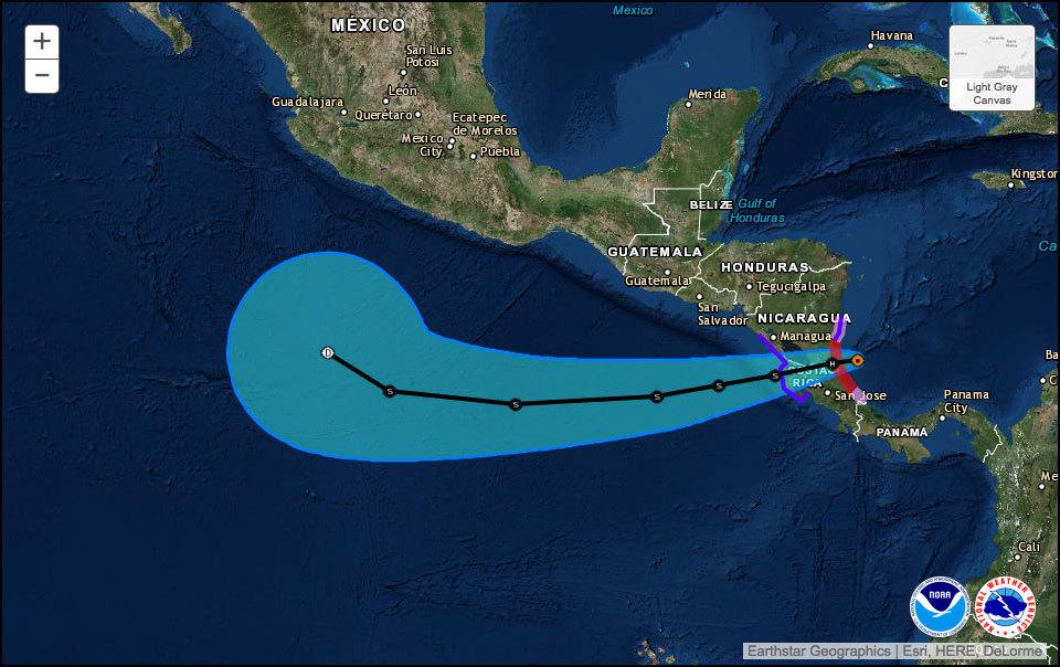 颶風進逼 哥斯達黎加尼加拉瓜嚴陣以待