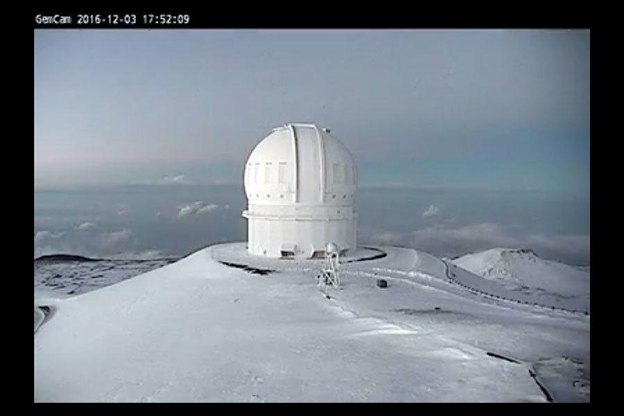 【罕見】夏威夷降雪 最厚達九十厘米