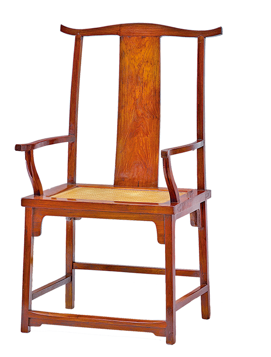 官帽椅的椅背頂部橫木探出頭,像明代官帽的雙翼,故而得名。(網絡圖片)