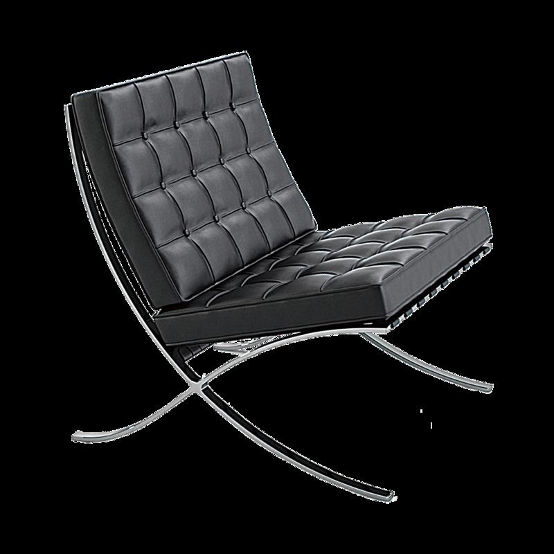 巴塞隆納椅造型極其簡單,被譽為是現代簡約傢俱風格的典範。(網絡圖片)