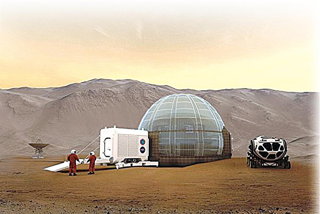 NASA火星冰屋給太空人舒適的家