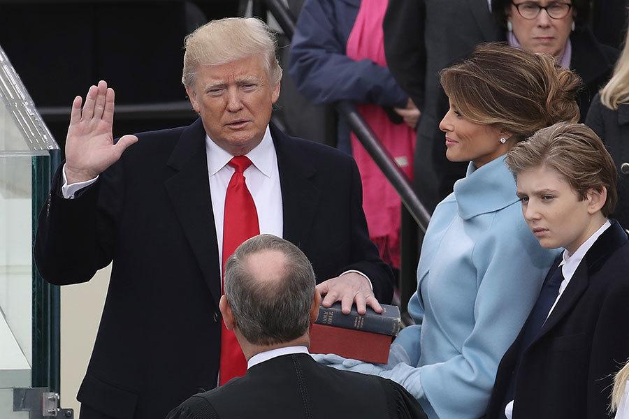 上任一周 圖片看特朗普做了甚麼