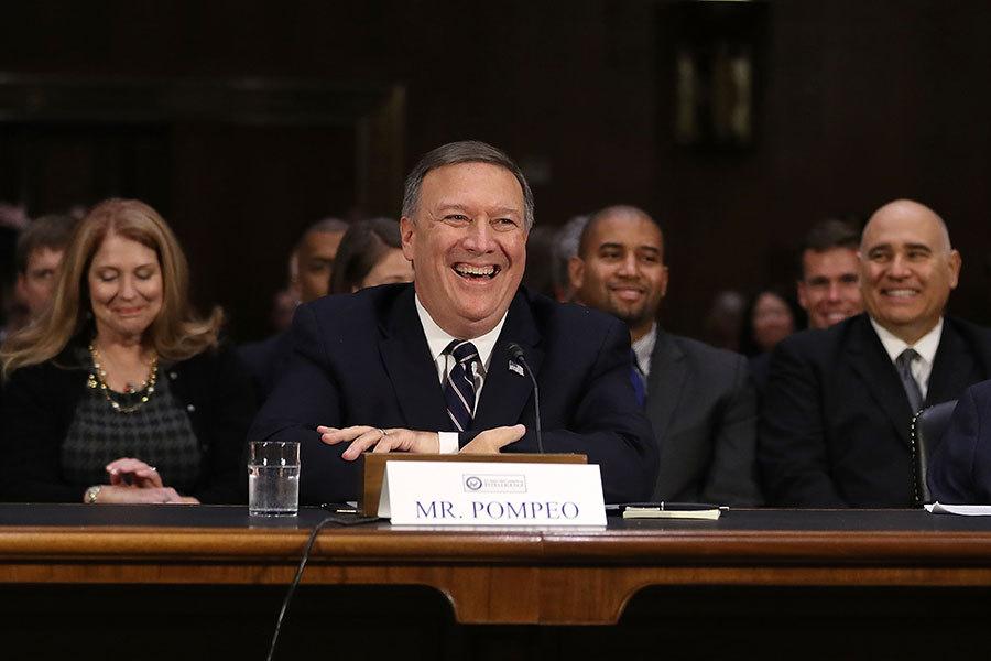 美參議院通過蓬佩奧中情局局長提名