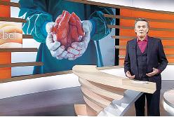 德國著名電視主持人斯戈伯在以他姓氏命名的訪談節目中,與專家探討中國發生的器官活摘真相。(3SAT網站)