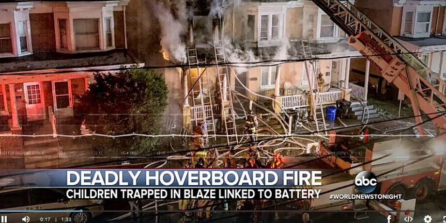 懸浮滑板充電時爆炸起火 美三歲女童慘死