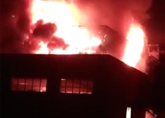 山西中北大學突爆大火 火光沖天傳爆炸聲