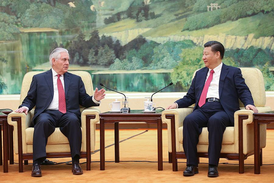 美國務卿蒂勒森與習近平會面 未提北韓問題