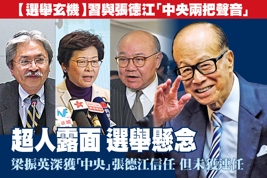 【選舉玄機】習與張德江「中央兩把聲音」 超人露面  選舉懸念