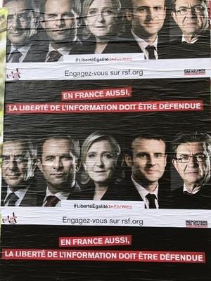 法國大選結果難料 四大候選人差距縮小