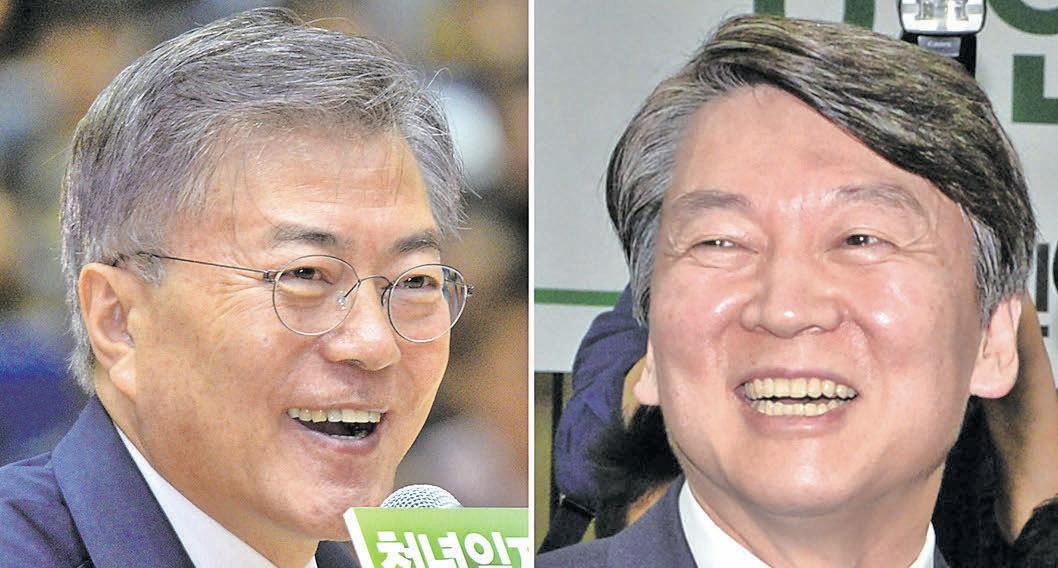 南韓大選民調逆轉安哲秀領先