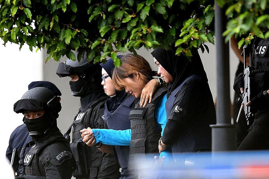金正男遇刺案 二女疑犯穿防彈衣再次出庭