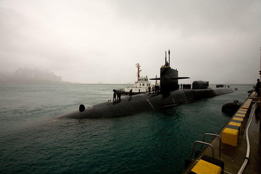 北韓大規模實彈演習 美國核潛艇入韓港口