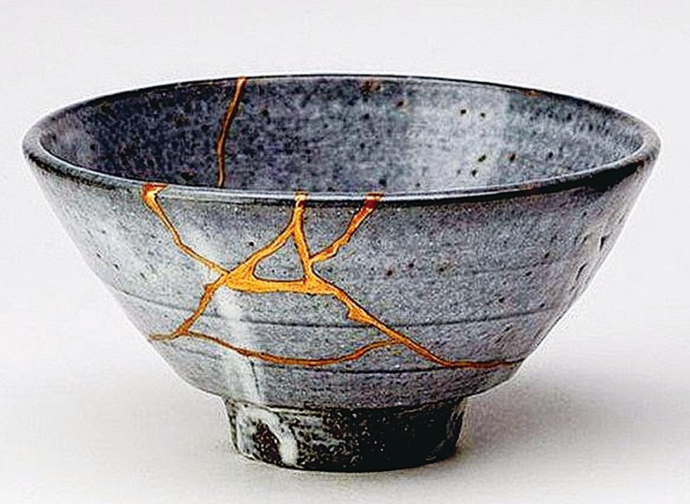 日本精緻手工藝金繕 以黃金修復破損陶瓷器皿