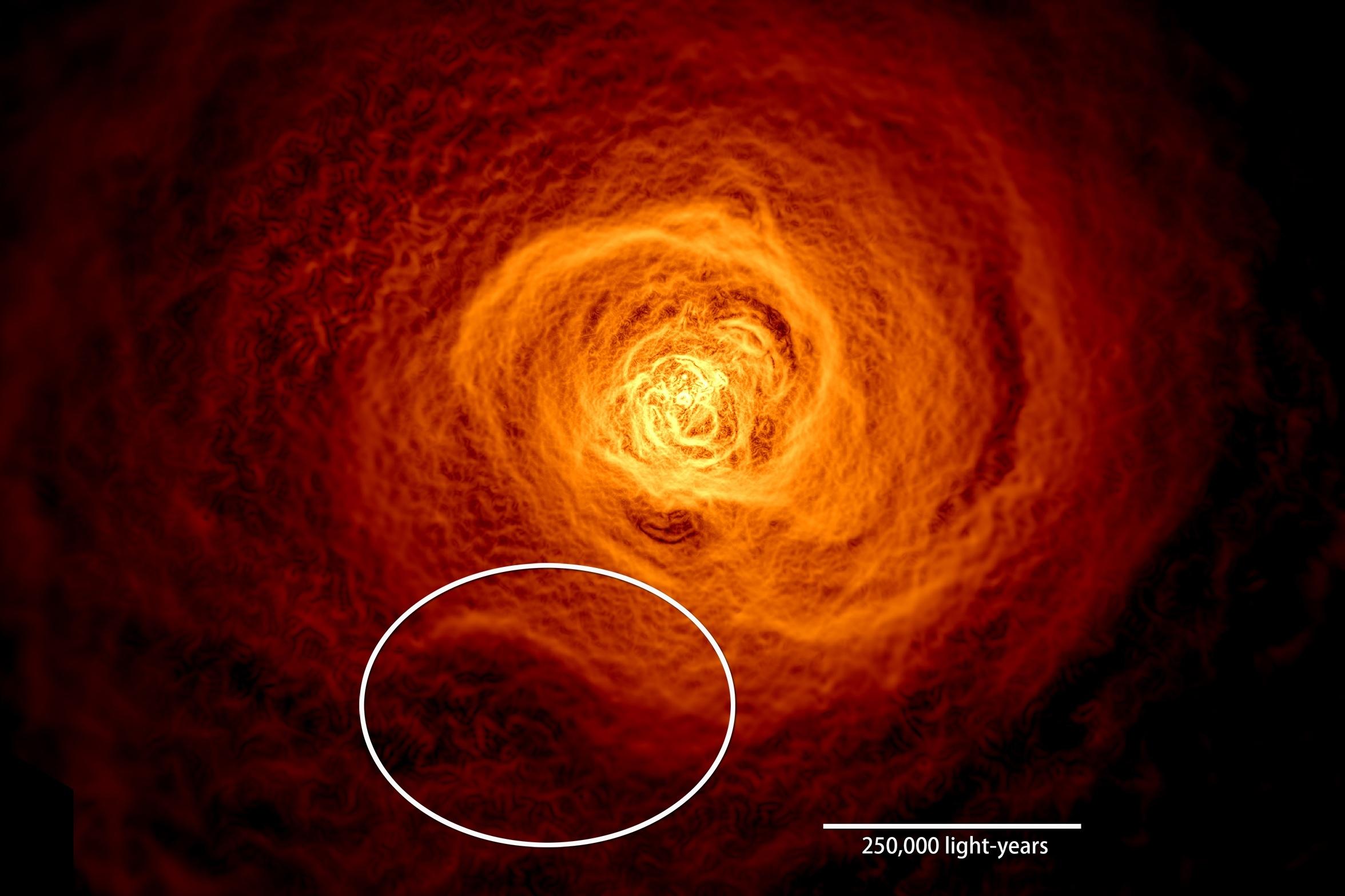 宇宙「驚濤駭浪」 範圍達兩個銀河系之大