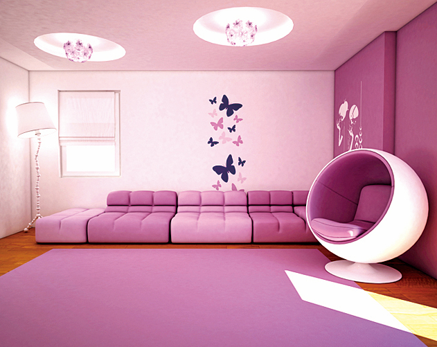不妨嘗試在家中多佈置些紫色,會令整個房間充滿女人味。