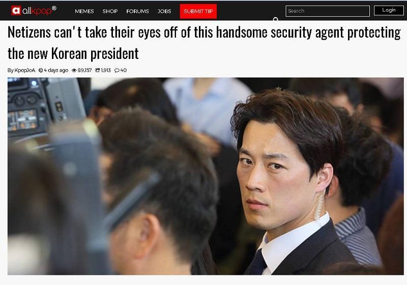 南韓總統保鑣外貌氣勢搶眼 搶佔外媒版面