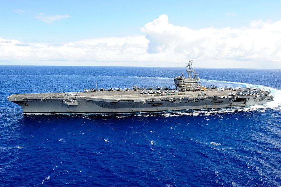 美國航母列根號出港 或與卡爾文森號會合
