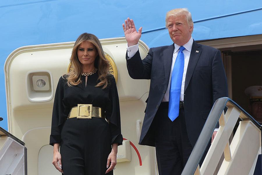 特朗普抵沙特 預計簽署逾千億美元交易