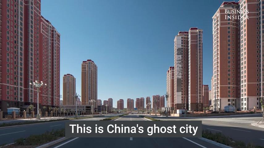 美媒發佈離奇照 揭密中國最大鬼城內景