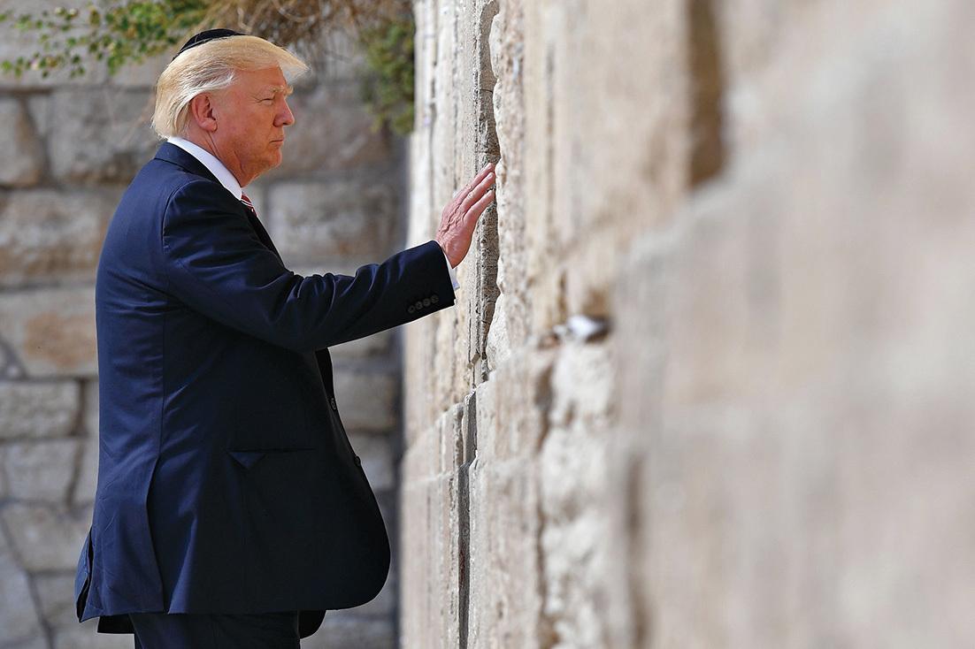 創美在任總統先例 特朗普訪「哭牆」