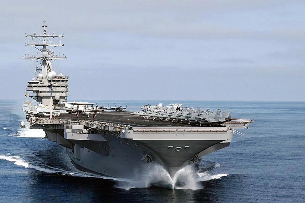 美三航母艦集結朝鮮半島